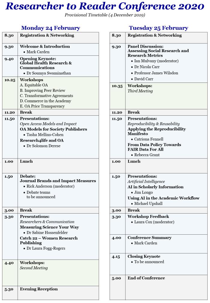 Provisional Timetable v02