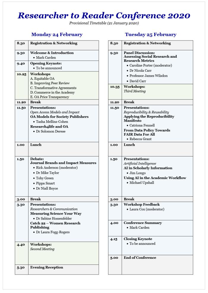 Provisional Timetable v05